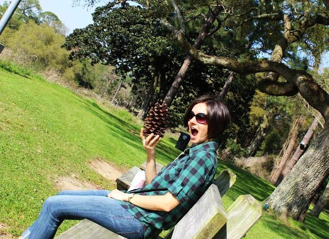 Me with a pinecone