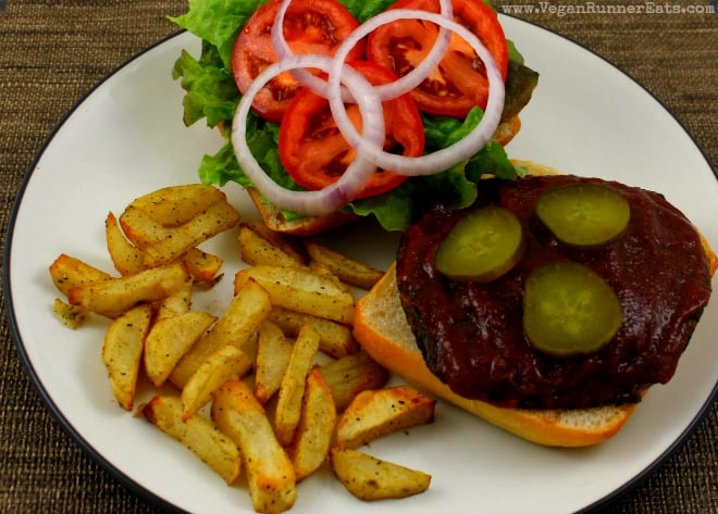 Barbecue Portobello Sandwich with Roasted Rosemary Fries
