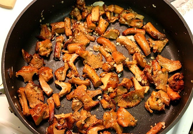 Cooked Chanterelle Mushrooms