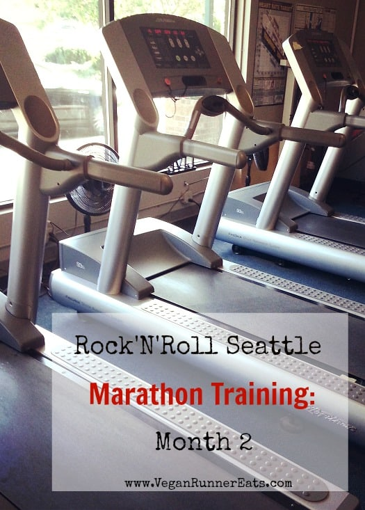 Rock'n'Roll Seattle marathon training update, month 2