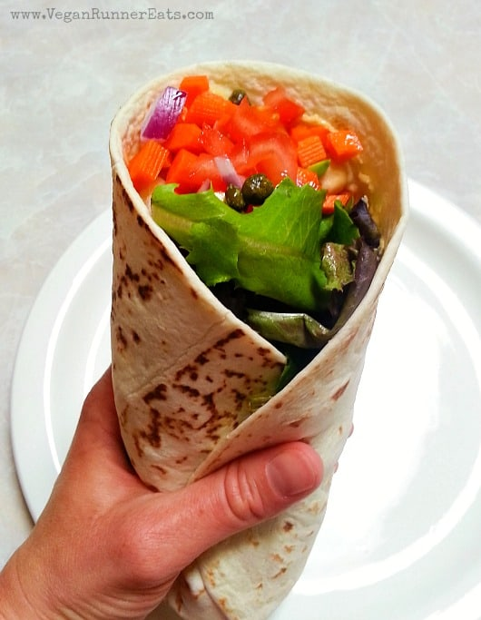 Vegan veggie wrap - a quick and easy lunch