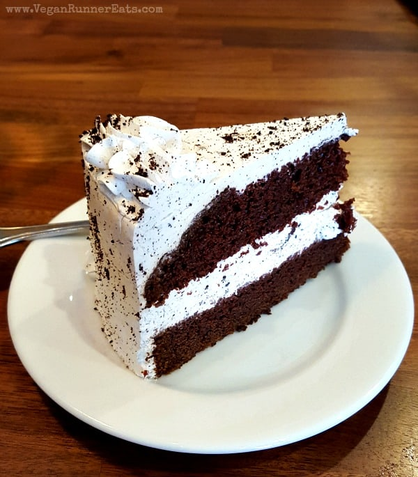 Vegan Oreo cake at Blossom Vegan Restaurant in Pleasanton, Ca