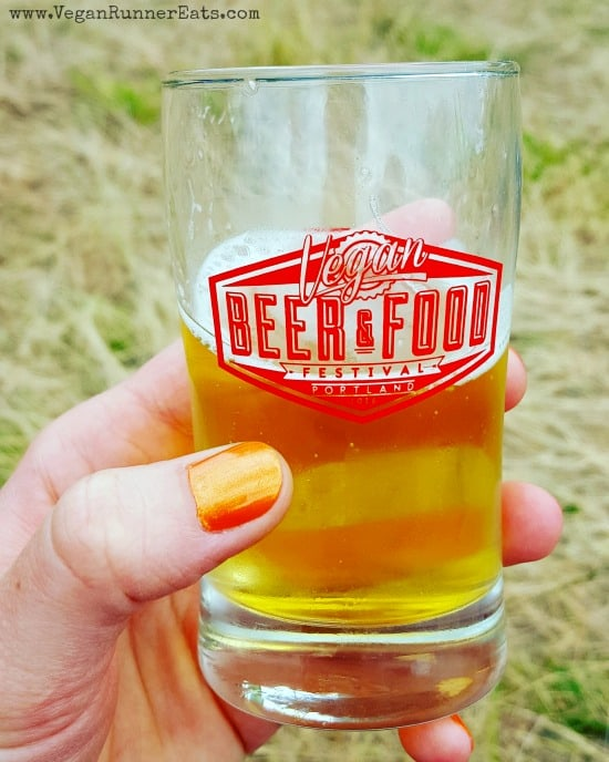Beer sample at Portland Vegan Beer and Food Festival