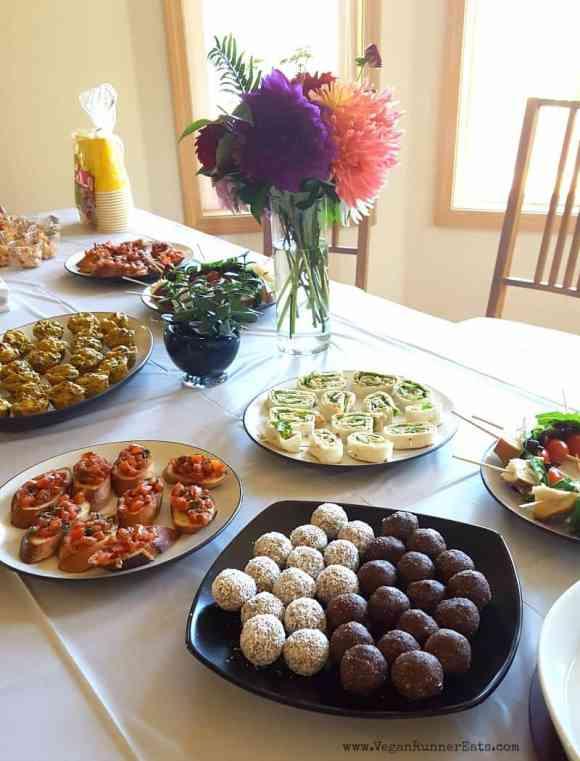 Vegan baby shower party | vegan party food | vegan party menu