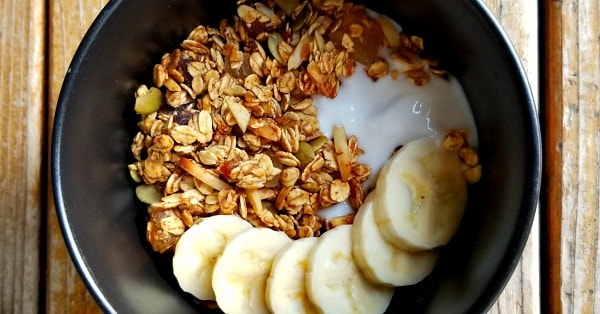 Tropical Banana-Orange Granola Recipe - Sweetened with Whole Foods, with Oil-Free and Gluten-Free Options