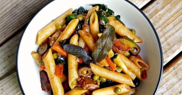 Easy Vegan Recipe: Veggie-Loaded Balsamic Pasta