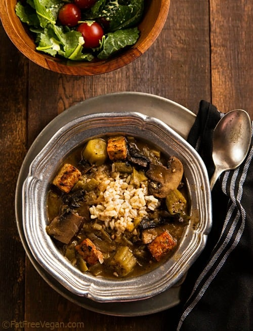 50 best vegan Thanksgiving dishes:: Mushroom Tempeh Gumbo