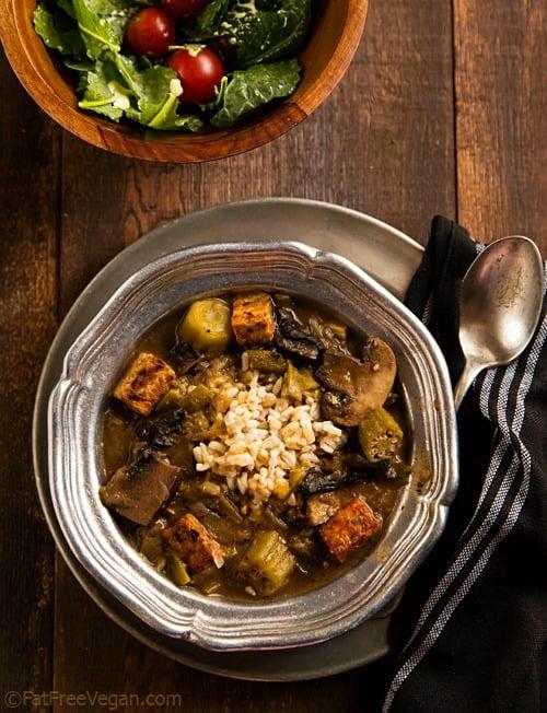 50 best vegan Thanksgiving dishes:: Mushroom Tempeh Gumbo