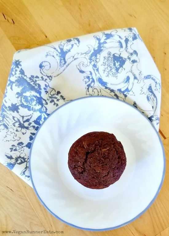Chocolate Zucchini Muffins - vegan chocolate muffin recipe | egg-free chocolate muffins recipe | healthy chocolate muffins