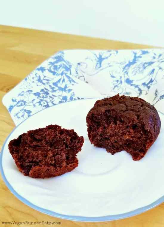 Healthy chocolate chip zucchini muffins - dairy free and egg free chocolate muffin recipe | vegan chocolate muffins | healthy chocolate muffins