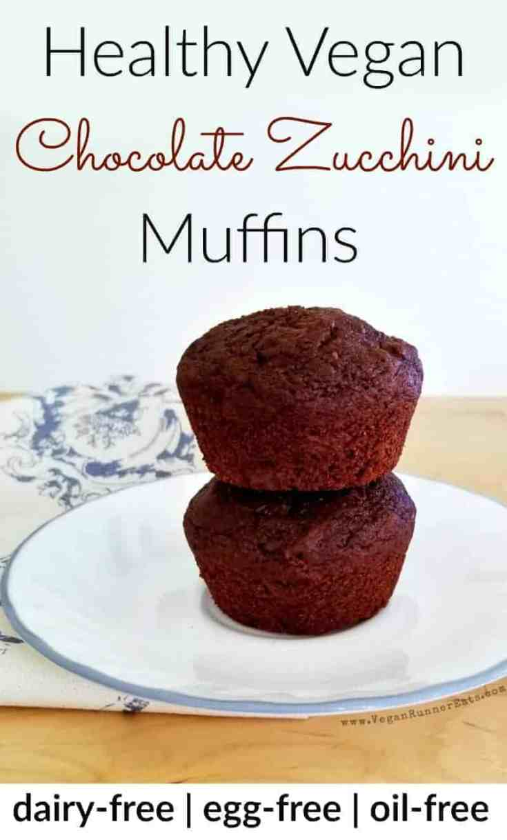 Healthy vegan chocolate muffins recipe - oil-free, dairy-free, egg-free, suitable for whole food plant-based diet. | chocolate zucchini muffins | vegan chocolate muffins recipe | healthy chocolate muffins | vegan muffins recipe | vegan double chocolate muffins | vegan baking recipes | #veganchocolatemuffins #veganmuffins #healthymuffins #eggfreebaking #veganbaking #veganmuffinrecipe