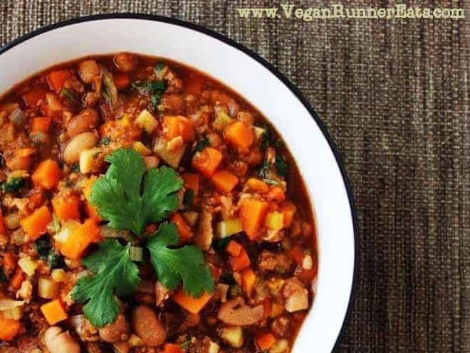 Sweet Potato and TVP Chili Recipe