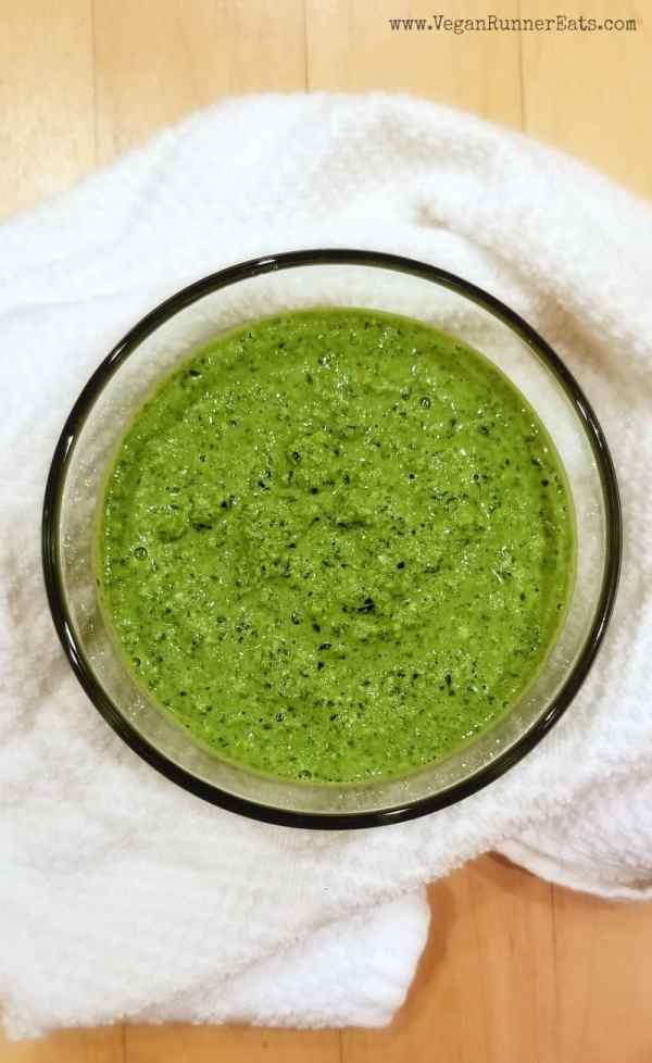 Vegan dairy-free pesto recipe with kale and cashews