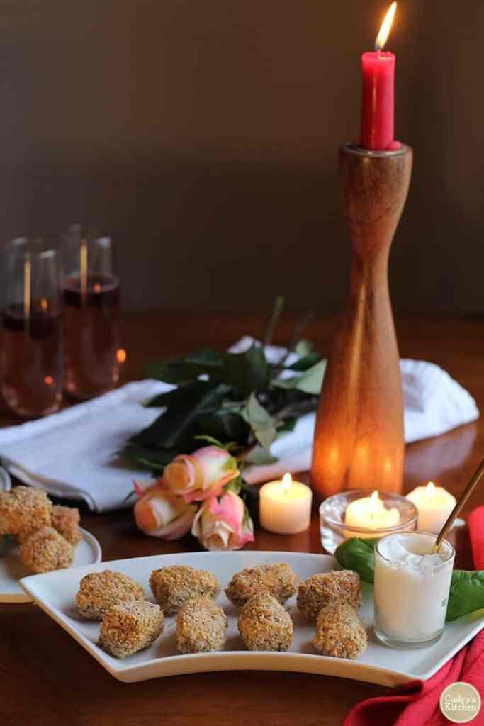 Vegan fried artichoke hearts - 25 vegan Valentine's day recipes