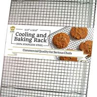 Ultra Cuisine 100% Stainless Steel Wire Cooling Rack - Heavy Duty Commercial Quality