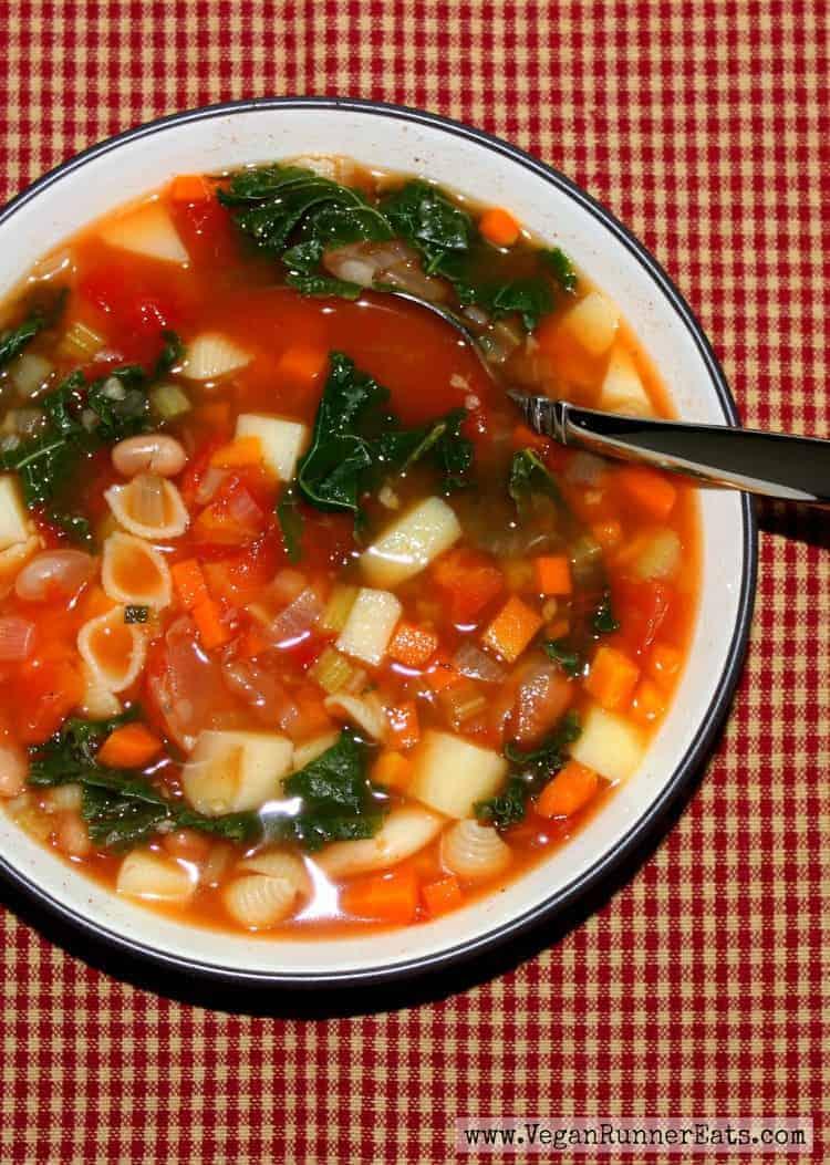 Healthy Vegan Minestrone Soup Recipe