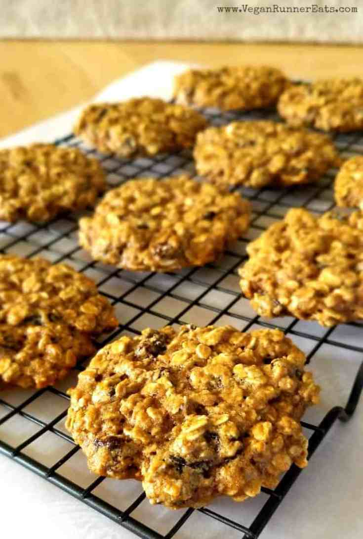 Vegan Oatmeal Raisin Cookies with Aquafaba