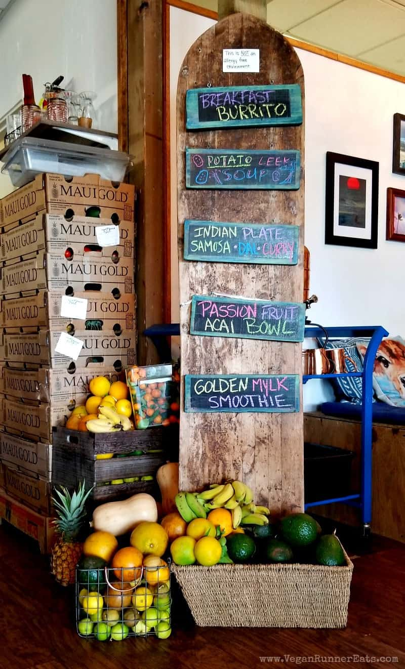How to make vacations with toddlers easier: 20 useful tips for every stage of your trip. Pictured: a fruit stand at A'a Roots vegan restaurant in Maui, Hawaii.