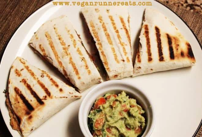 Veggie-Loaded Vegan Quesadillas with No Cheese