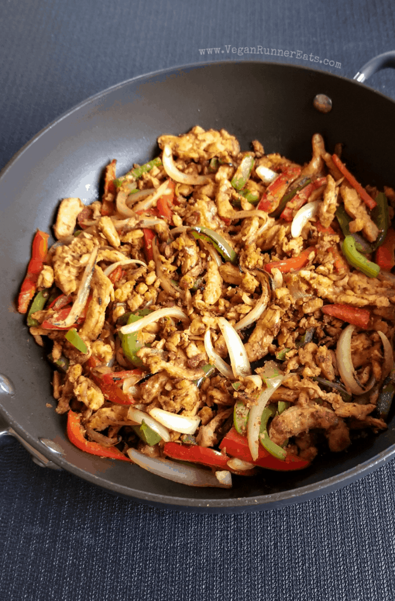 Vegan fajita filling recipe with soy curls
