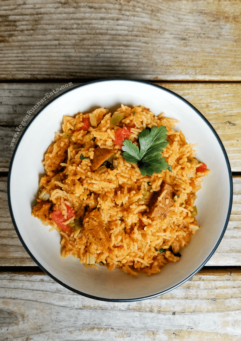Vegan jambalaya recipe made in the Instant Pot