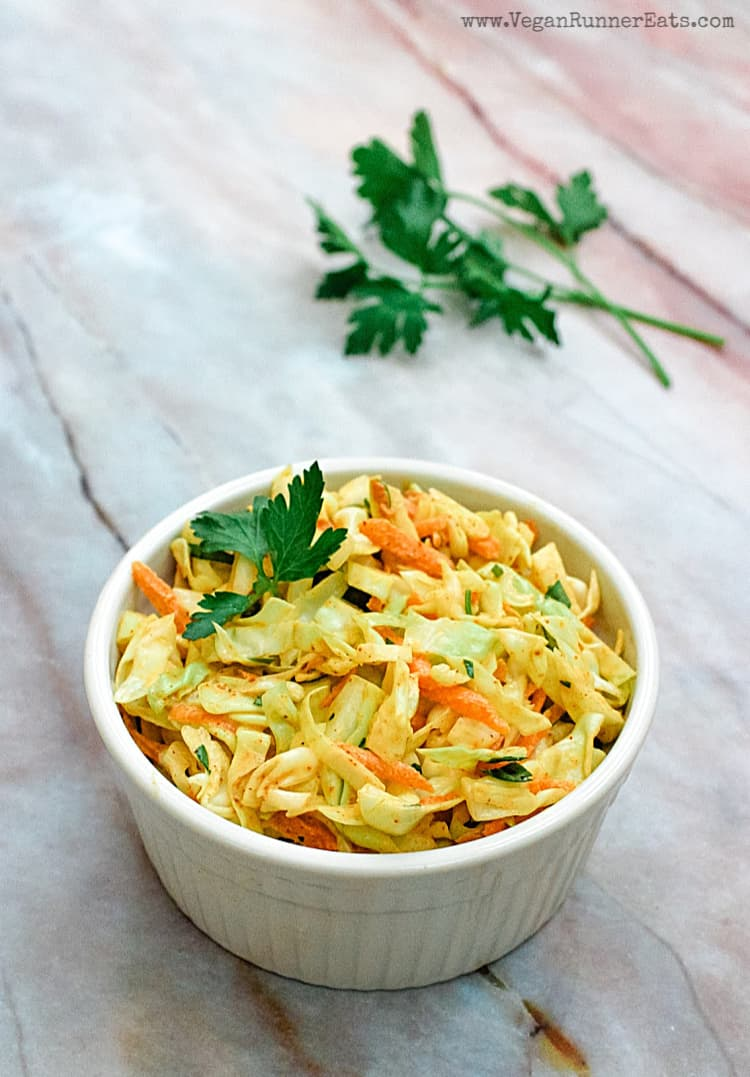 Vegan chipotle coleslaw - an easy vegan coleslaw recipe with creamy chipotle dressing | Vegan Runner Eats