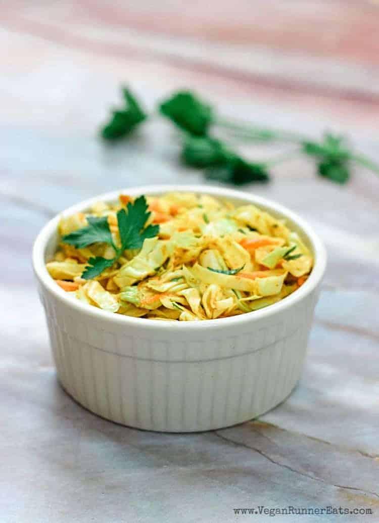 Vegan chipotle coleslaw recipe with creamy dressing