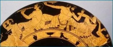 Artefact depicting symposium, with wine and vegan ingredients