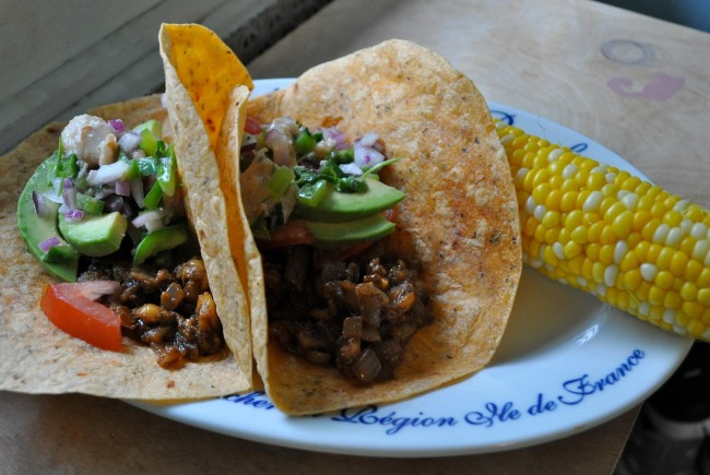 Jackfruit Carnitas with Mangosteen Salsa {Strange Fruit 1 & 2}