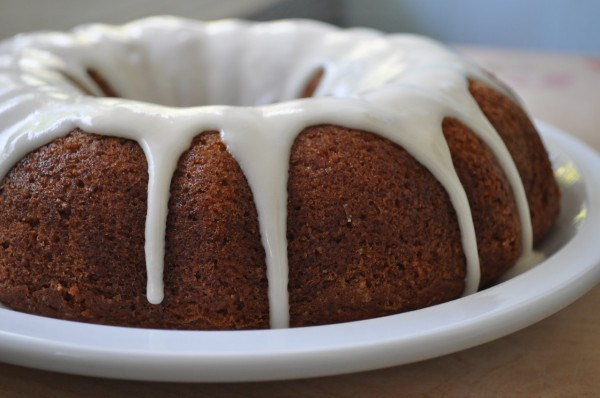 Orange Bundt Cake with Lemon Icing