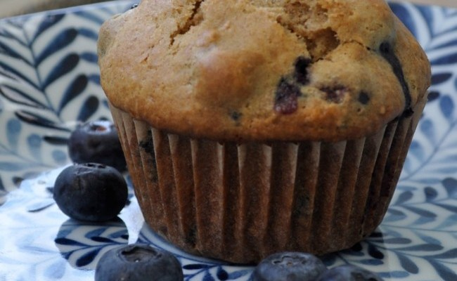 Sunday Morning Blueberry Muffin Break