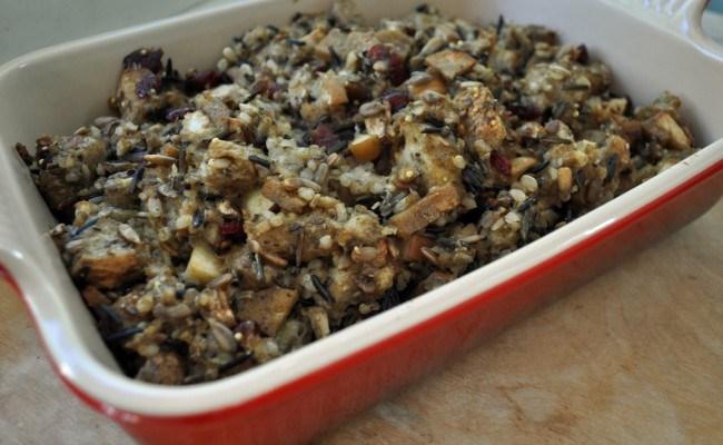 Autumn Cooking: Apple Sausage Wild Rice Stuffing