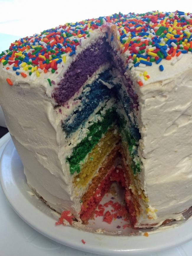 I'm So <i>Pride</i> of My Vegan Rainbow Cake