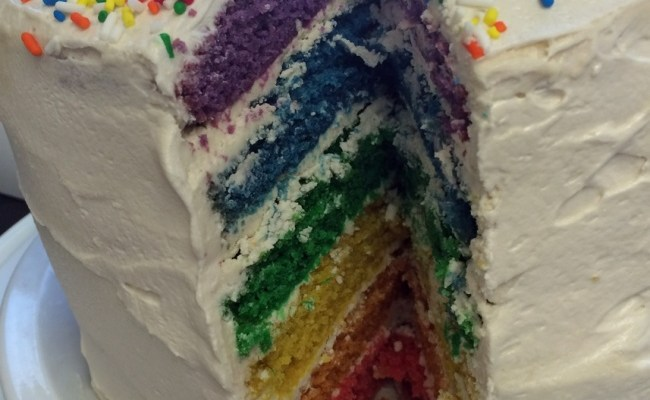 I'm So <i>Pride</i> of My Vegan Rainbow Cake