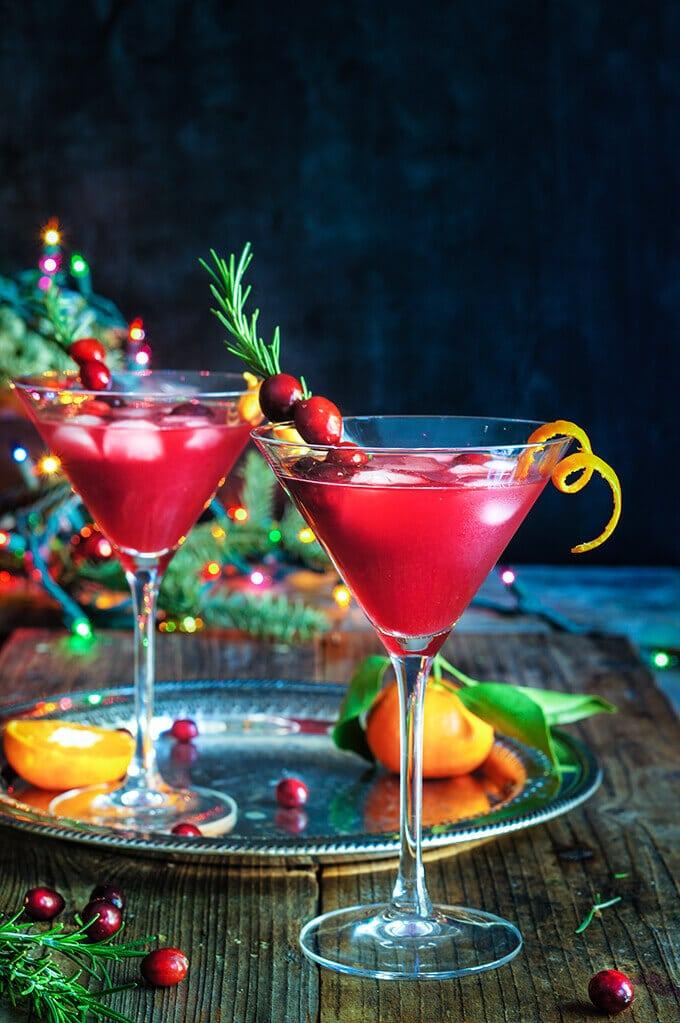 Cranberry Rosemary Citrus Martini