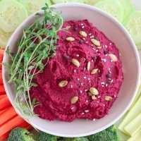 Mouth-Watering Roasted Beet Hummus Recipe (V, WFPB, GF)