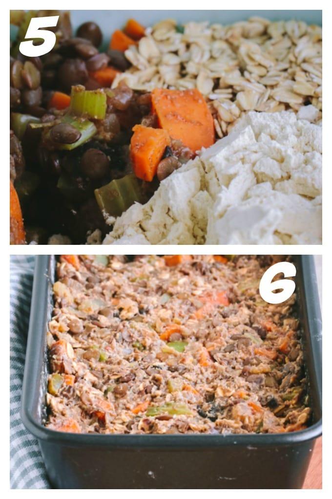 Steps 5-6 Savory Vegan Lentil Loaf