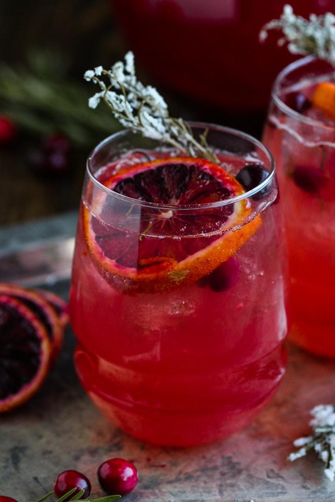 Cranberry Spritzers