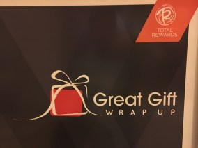The 2015 Total Rewards Great Gift Wrap Up logo