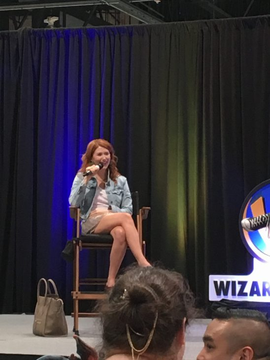 Jewel Staite enjoys her time up on stage