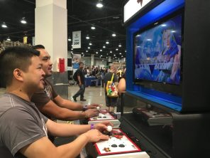 Joe and Ralph take a break and try to beat each other up at Street Fighter V