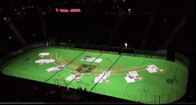 T Mobile Arena S Very Vegas Ice Intro Is A Projection
