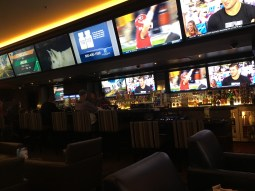 A surprisingly good sportsbook downtown. The people in front of us were Iowa Hawkeyes fans. We forgave them. Kind of.