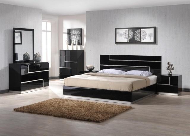 Barcelona Black Lacquer 4pc Bedroom Set   Las Vegas ...