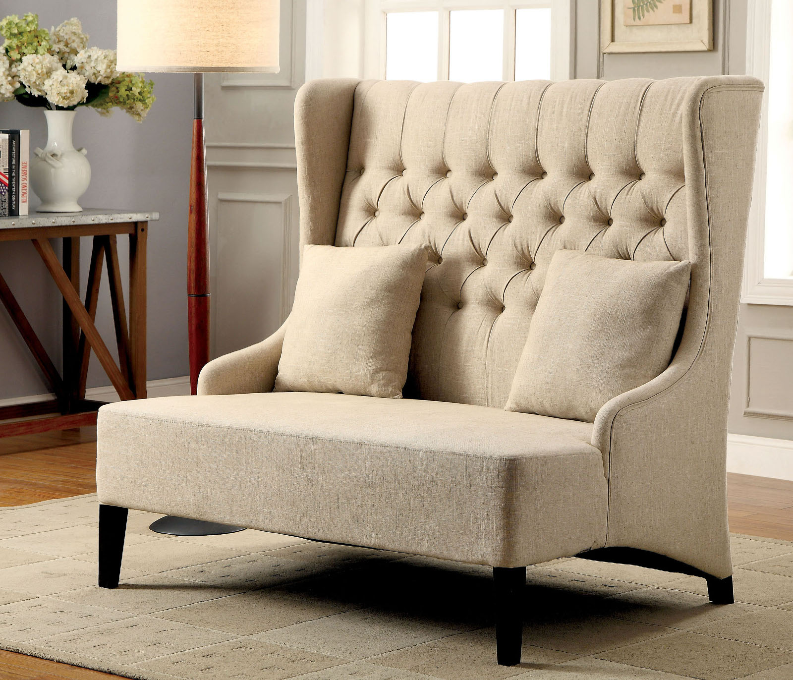 High Back Tufted Couch
