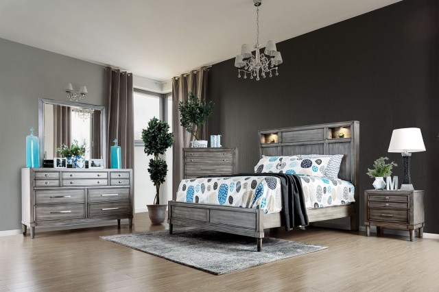 Daphne Weathered Grey Bedroom Collection | Las Vegas ...