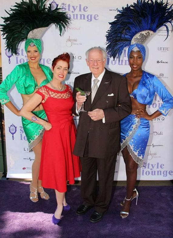 Andeen Rose and Oscar Goodman at The Style Lounge