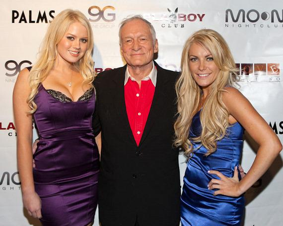 Anna Sophia Berglund, Hugh Hefner and Crystal Harris
