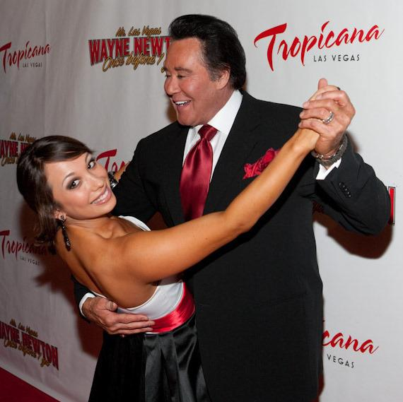 Wayne Newton and Cheryl Burke
