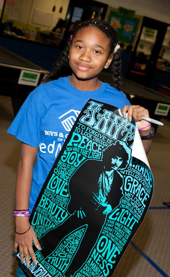 Imani with poster artwork